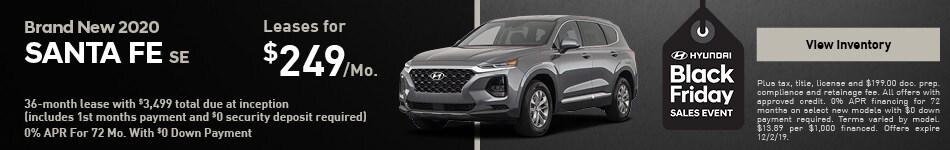 Brand New 2020 Santa Fe SE - lease
