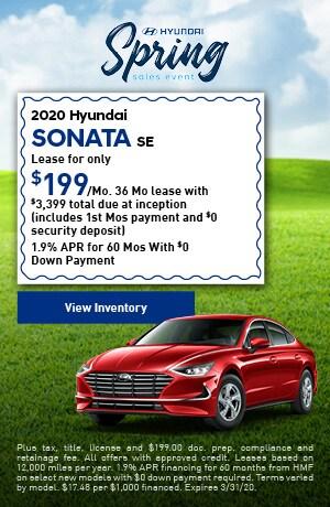 2020 Hyundai Sonata SE - Lease
