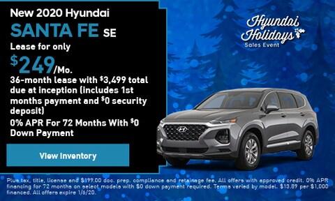 New 2020 Hyundai Santa Fe - Lease