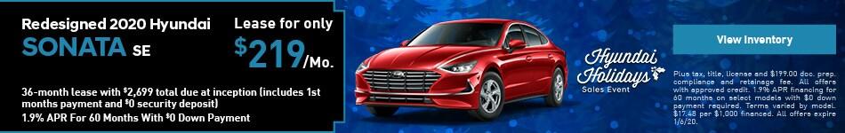 New 2020 Hyunda Sonata SE - Lease