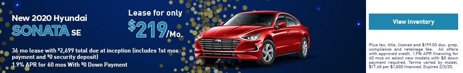 2020 Hyundai Sonata - Lease