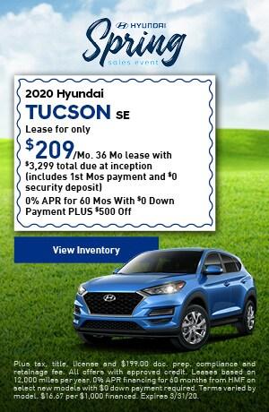 2020 Hyundai Tucson SE - Lease