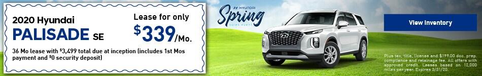 2020 Hyundai Palisade SE - Lease