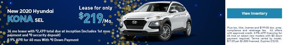 2020 Hyundai Kona - Lease