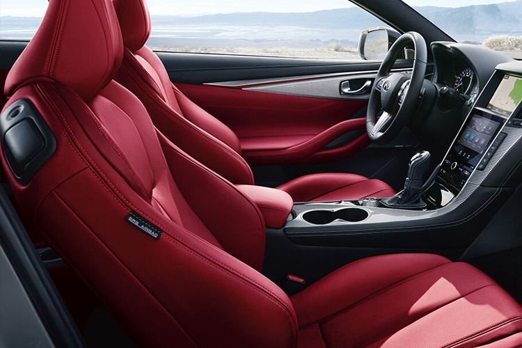 The interior of the Infiniti Q60