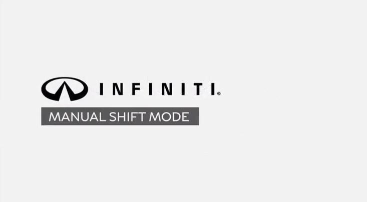 INFINITI manual shift mode