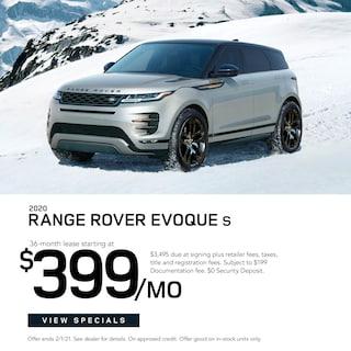 2020 Range Rover Evoque $399/Month