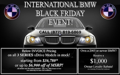 International Bmw New Bmw Dealership In West Allis Black Friday Event