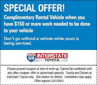 COMPLIMENTARY RENTAL VEHICLE