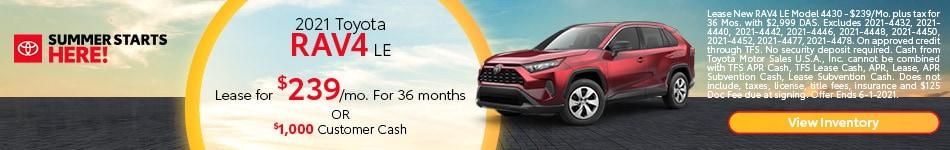2021 Toyota RAV4 LE May