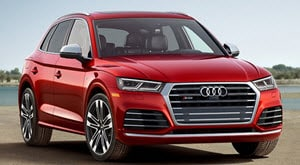 2018 Audi SQ5 in Matador Red Metallic