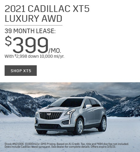New 2021 Cadillac XT5 | Lease