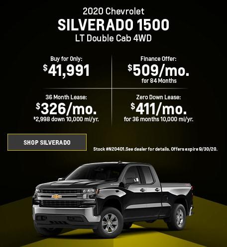 New 2020 Chevrolet Silverado 1500   September