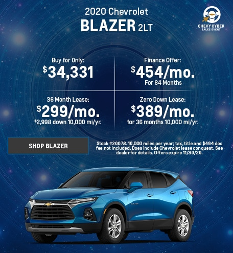 New 2020 Chevrolet Blazer | November
