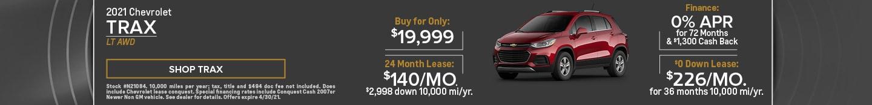 2021 Chevrolet Trax LT AWD- April Offer