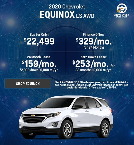 New 2020 Chevrolet Equinox | November