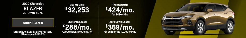 New 2020 Chevrolet Blazer | September