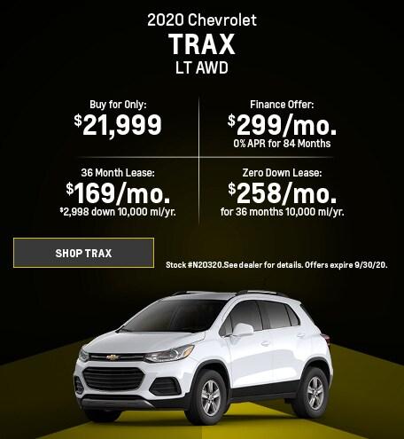 New 2020 Chevrolet Trax   September