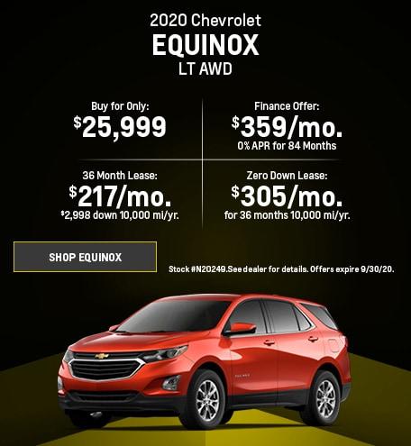 New 2020 Chevrolet Equinox   September