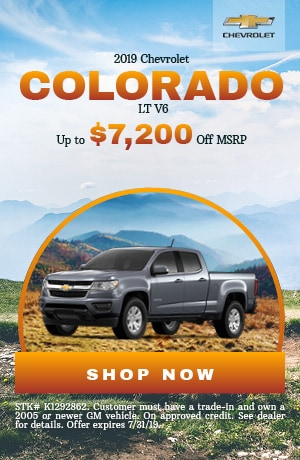 2019 Chevrolet Colorado - July Offer