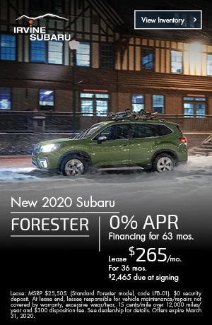March New 2020 Subaru Forester Offers