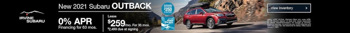 December 2021 Subaru Outback
