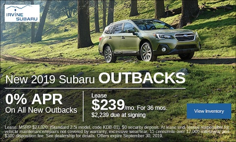 September New 2019 Subaru Outbacks Lease Offer