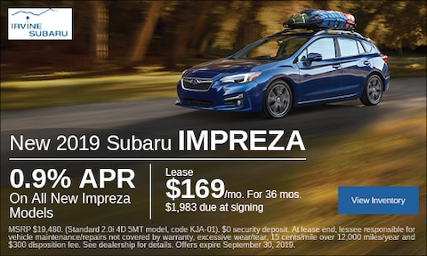 September New 2019 Subaru Impreza Lease Offer