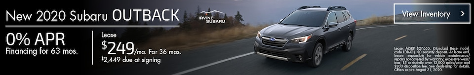 August New 2020 Subaru Outback Offers
