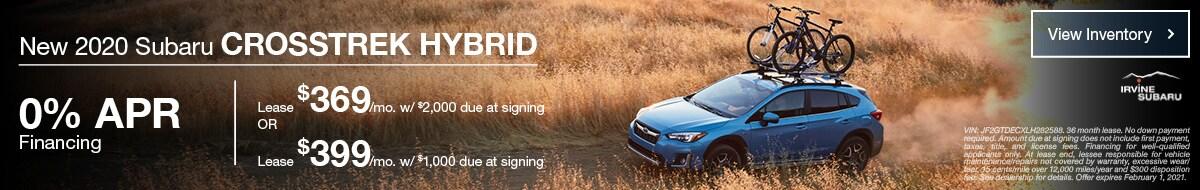 January New 2020 Subaru Crosstrek Hybrid Offers