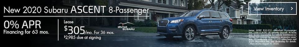 August New 2020 Subaru Ascent 8-Passenger Offers