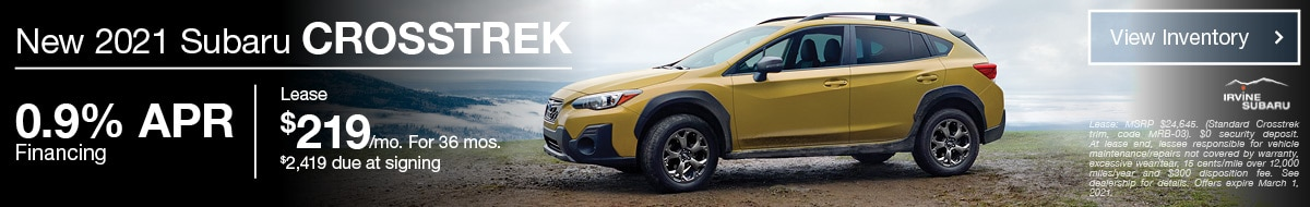 February New 2021 Subaru Crosstrek Offer