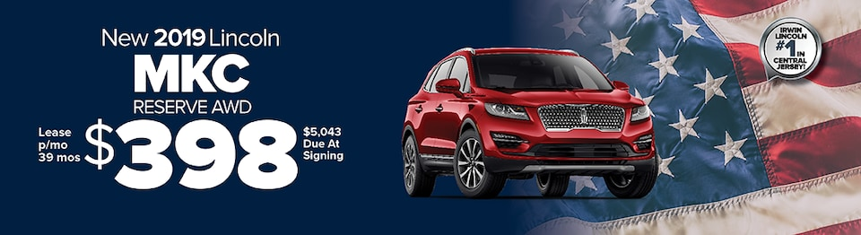 Lease A New 2019 Lincoln MKC Reserve AWD For