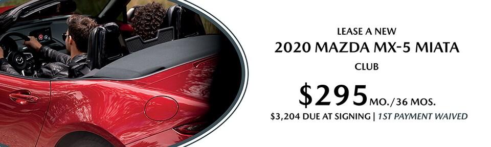 LEASE A NEW 2020 MAZDA MX-5 MIATA CLUB