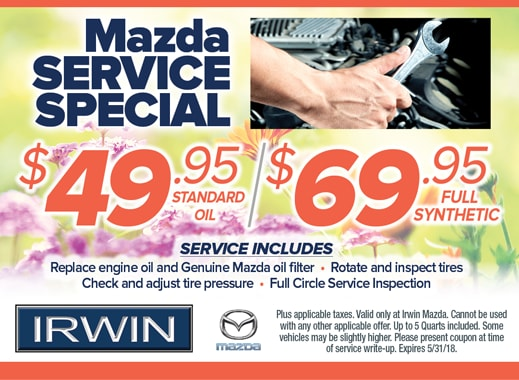 Service Specials | Irwin Mazda | NJ Mazda Dealer. Schedule ...