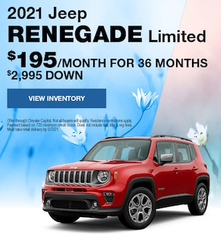 April 2021 Jeep Renegade Limited