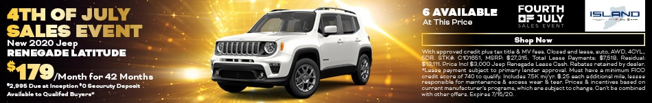 July 2020 Jeep Renegade