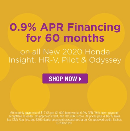 0.9% APR Financing for 60 months