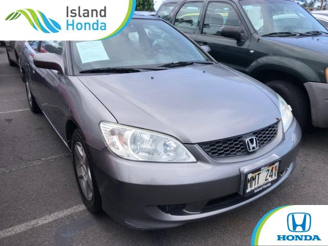 Used 2005 Honda Civic Coupe EX W/Side SRS Satin Silver For Sale In Kahului  HI   Stock: 5L012638A