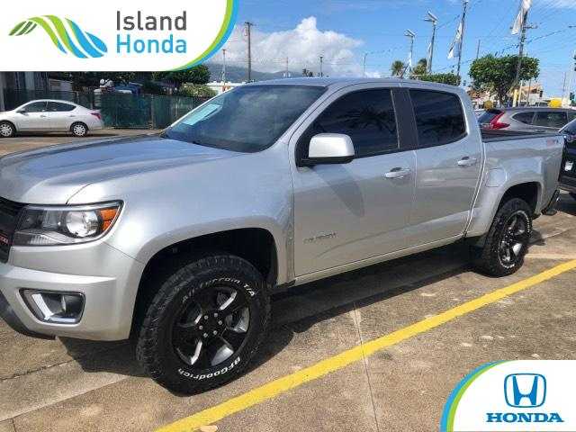 Used 2015 Chevrolet Colorado Truck Crew Cab Z71 Silver Ice For Sale