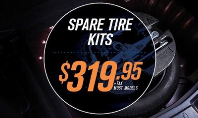 Spare Tire Kits $319.00+tax