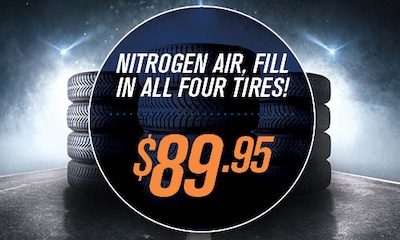 Nitrogen air all four tires!
