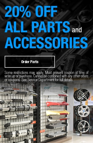 20% OFF All Parts and Accessories