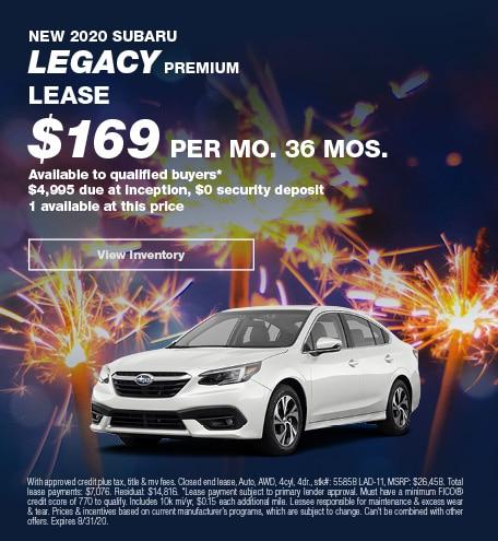 August 2020 Subaru Legacy
