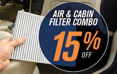 15% OFF AIR & CABIN FILTER COMBO
