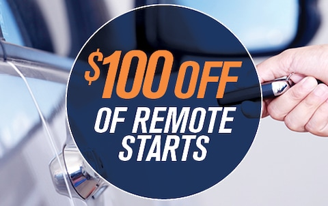 $100 OFF OF REMOTE STARTS