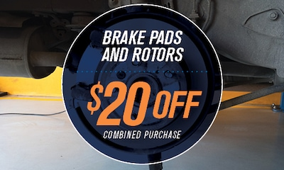 Combined purchase of brake pads and rotors