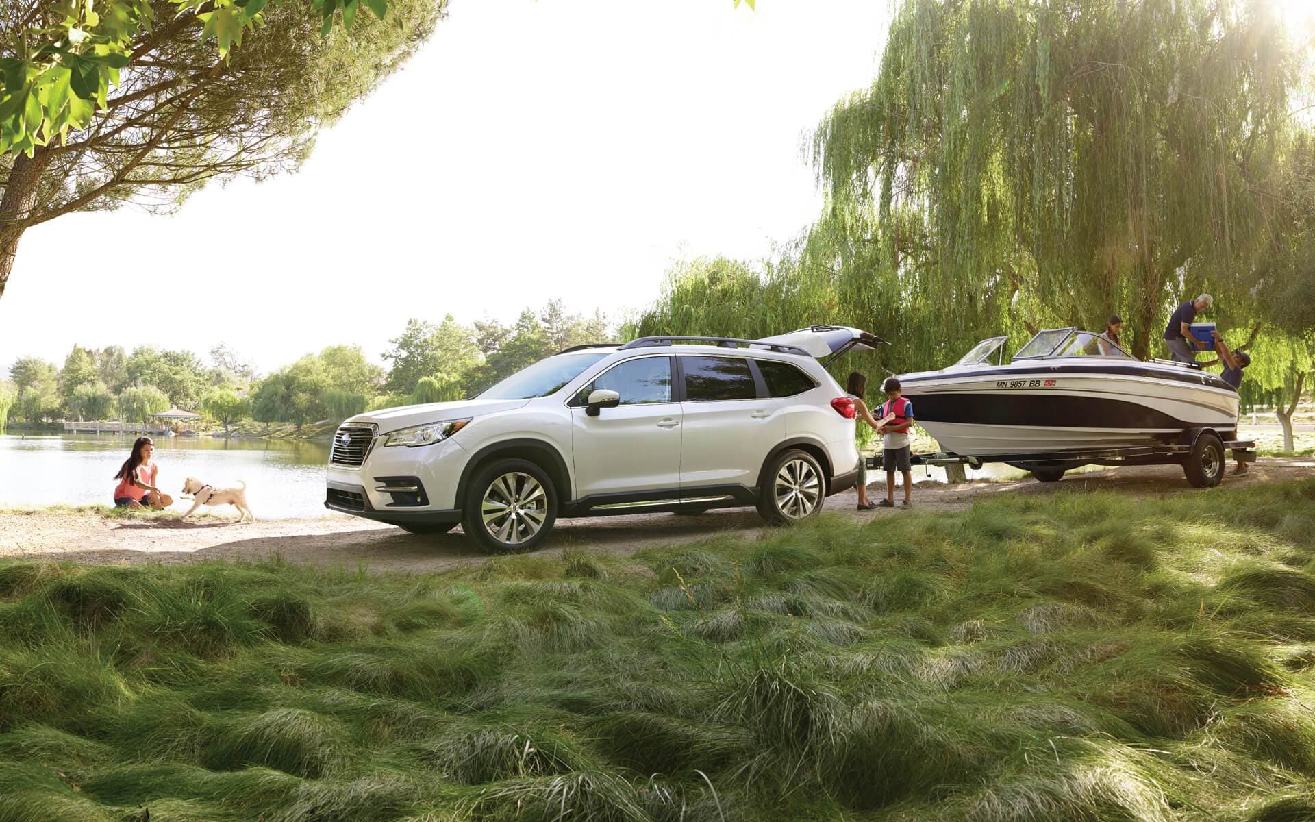 Subaru Ascent Towing Boat