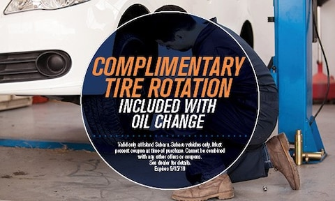 Complimentary Tire Rotation Included With Oil Change