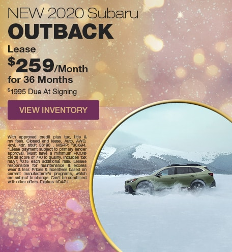 January 2020 Subaru Outback